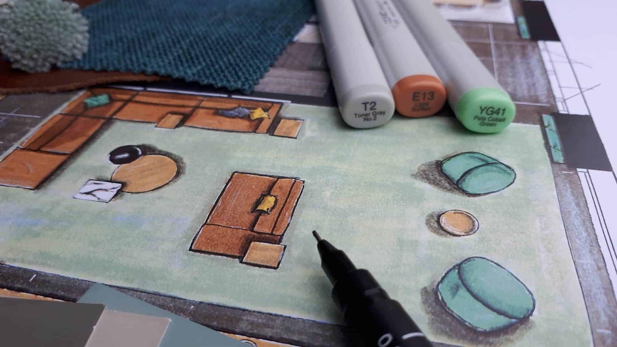 kleurrijk interieurontwerp