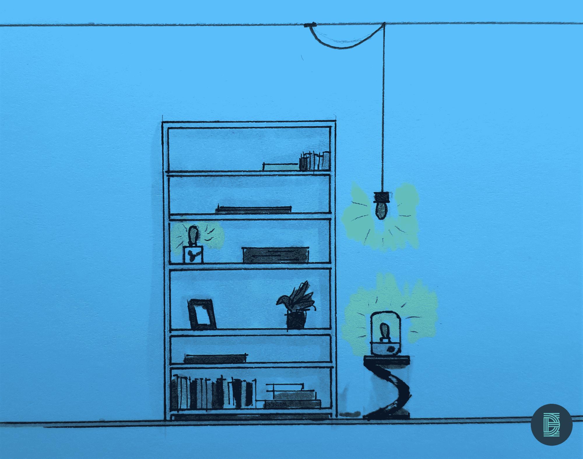 Edison lampen in huis