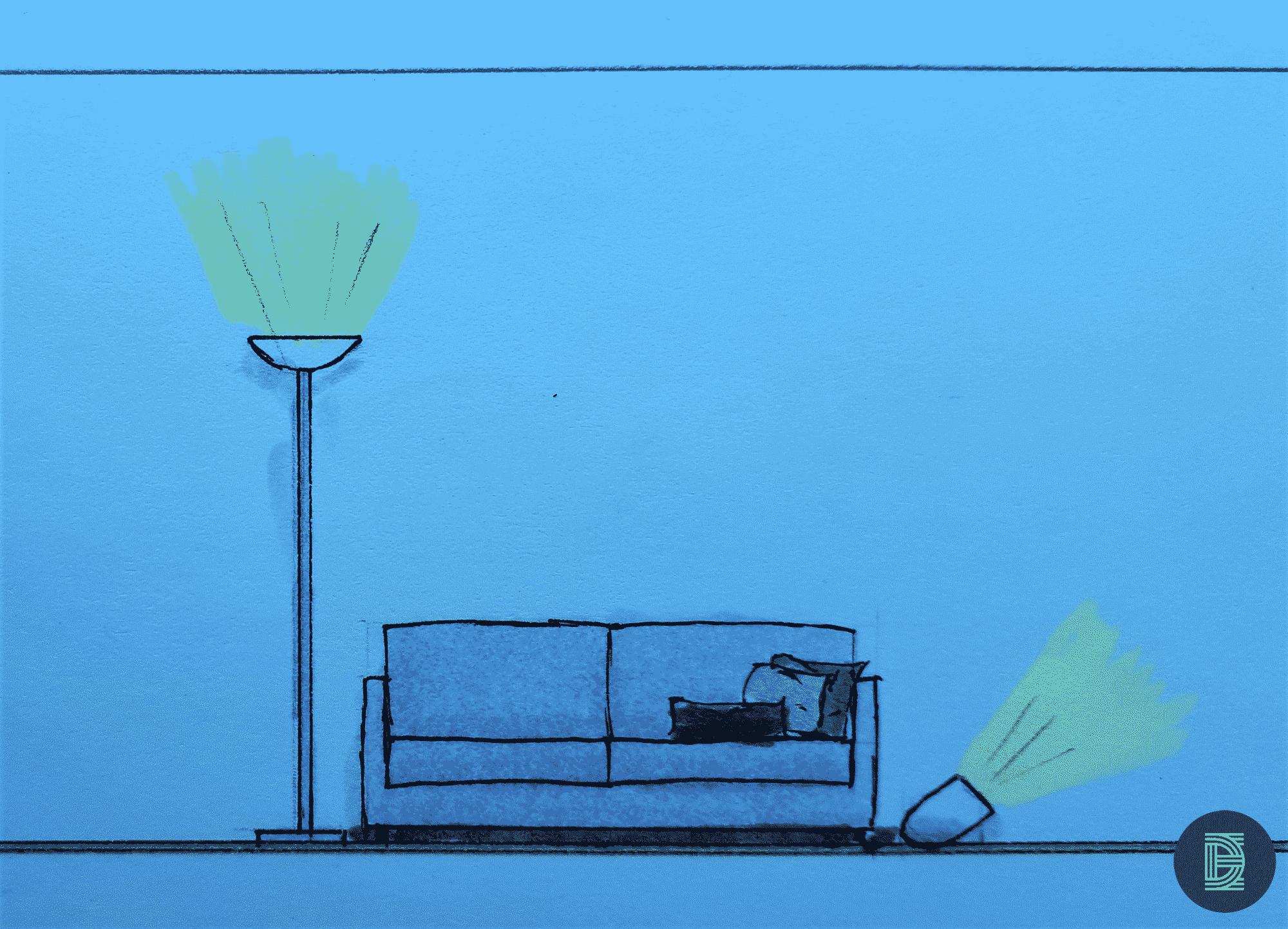 Spotverlichting in huis