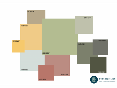 Kleurplan Hillegom - Kleuradvies Designed by Elroy